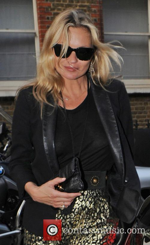 Kate Moss leaving the Bella Freud store