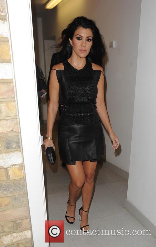Kourtney Kardashian enjoys a night out in Mayfair...