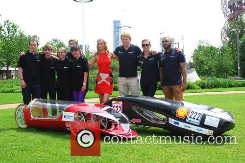 Rachel Riley meets engineering students from  Shell...