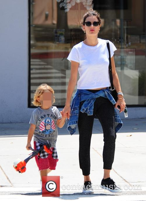 Alessandra Ambrosio takes her son Noah shopping for...