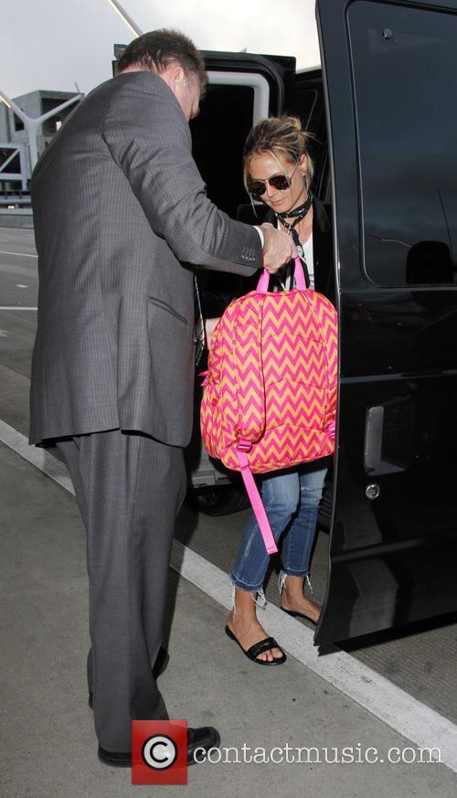 Heidi Klum and her children depart from Los...