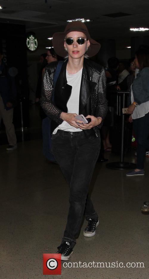 Rooney Mara arrives at Los Angeles International Airport...