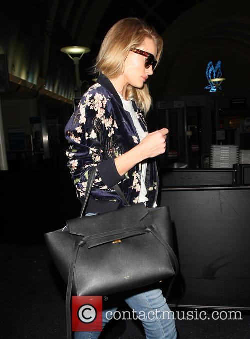 Rosie Huntington-Whiteley arrives at Los Angeles International Airport...