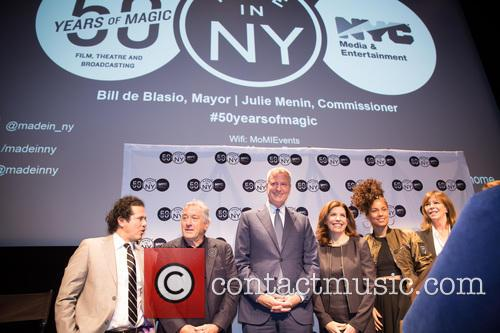 Robert De Niro, Bill De Blasio, Alicia Keys, John Leguizamo and Jane Rosenthal 6