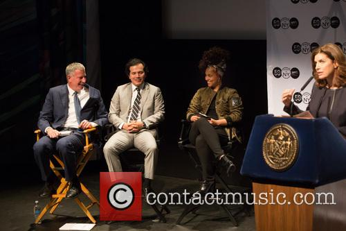Bill De Blasio, Alicia Keys, John Leguizamo and Julie Menin 3