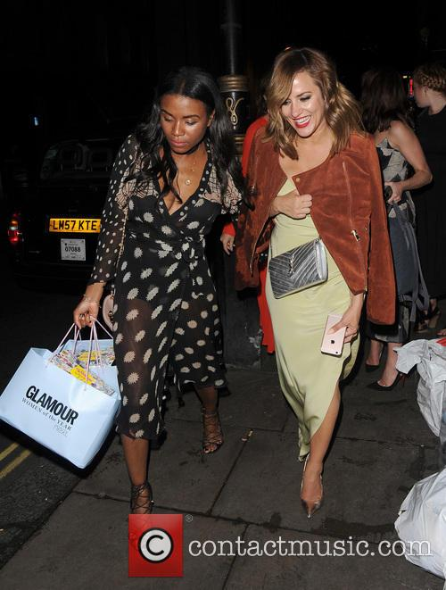 Celebrities leaving the Groucho Club in Soho
