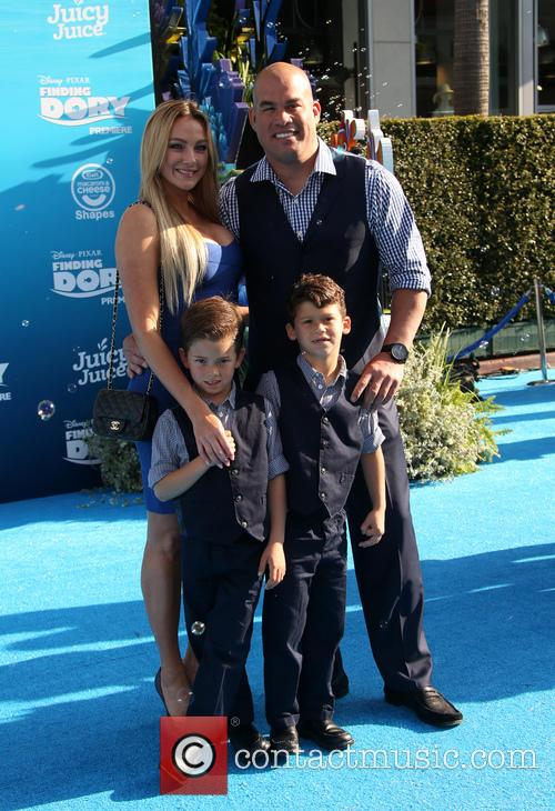 Tito Ortiz, Amber Nichole Miller, Journey Jette Ortiz and Jacob Ortiz 3