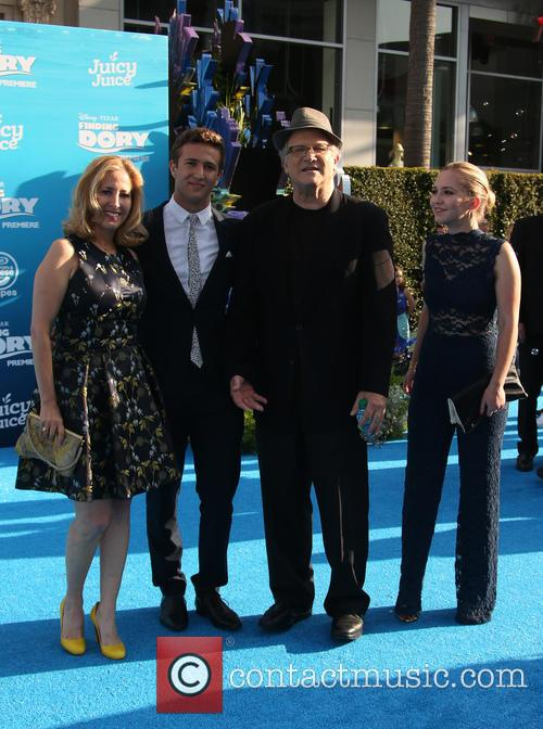 Albert Brooks, Kimberly Shlain, Claire Elizabeth Einstein and Jacob Eli Einstein 1