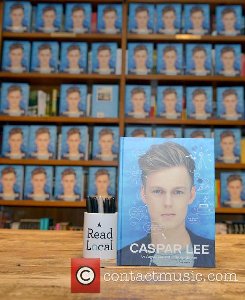 Caspar Lee signs copies of his book 'Caspar...
