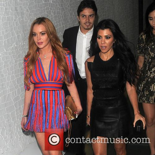 Kourtney Kardashian and Lindsay Lohan 3