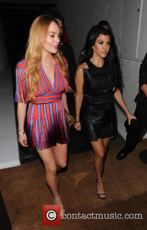 Lindsay Lohan and Kourtney Kardashian 2