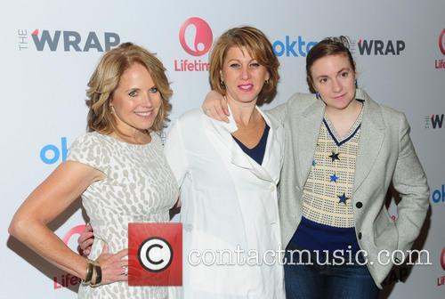 Katie Couric, Sharon Waxman and Lena Dunham 1