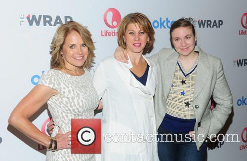 Katie Couric, Sharon Waxman and Lena Dunham 2