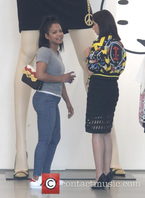 Christina Milian goes shopping with friends