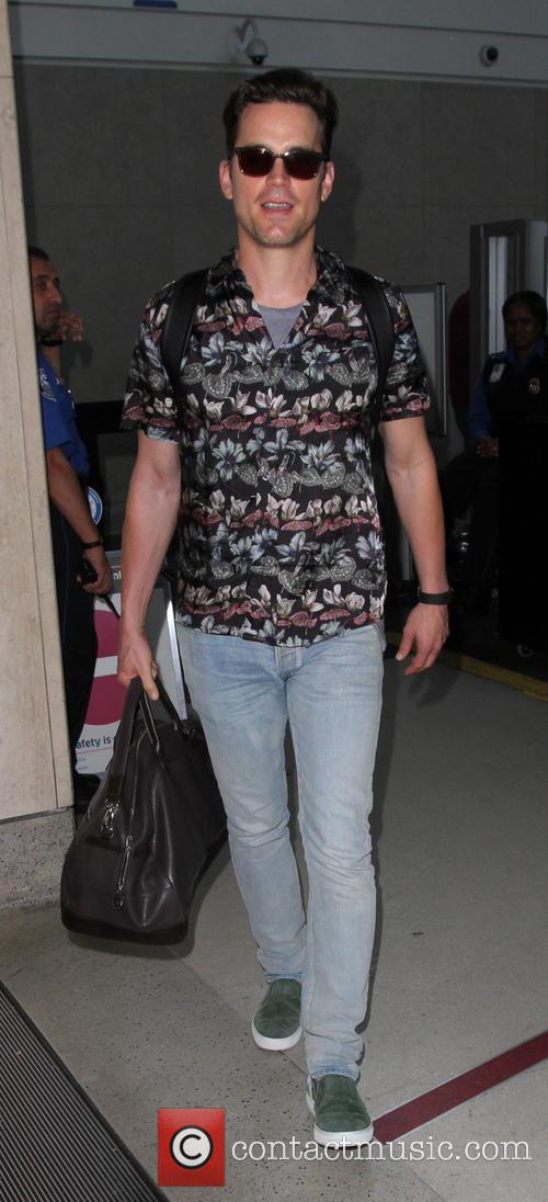 Matt Bomer arrives at LAX