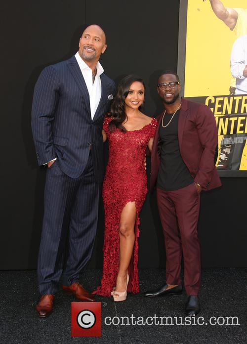 Dwayne 'the Rock' Johnson, Danielle Nicolet and Kevin Hart 9