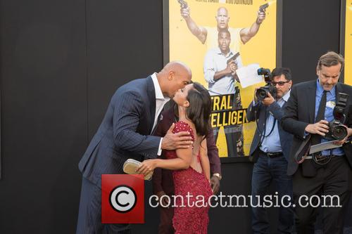 Dwayne Johnson, Danielle Nicolet and Kevin Hart 5