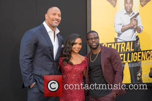 Dwayne Johnson, Danielle Nicolet and Kevin Hart 6