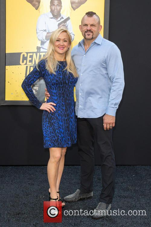 Mixed Martial Artist Chuck Liddell (r) and Wife Heidi Northcott (l) 2