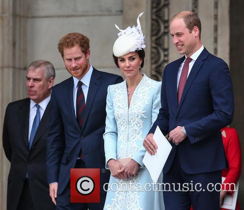Prince Andrew, Prince Harry, Prince William, Duke Of Cambridge, Catherine Duchess Of Cambridge and Kate Middleton 4