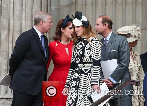 Prince Andrew, Princess Beatrice, Princess Eugenie and Prince Edward 7