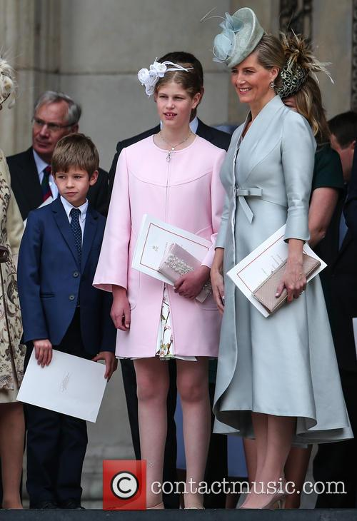 James Viscount Severn, Lady Louise Windsor and Sophie Countess Of Wessex 1