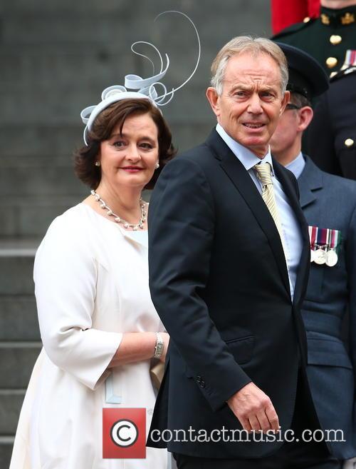 Cherie Blair and Tony Blair 3