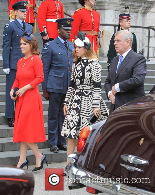 Princess Beatrice, Princess Eugenie Of York, Prince Andrew and Duke Of York 4