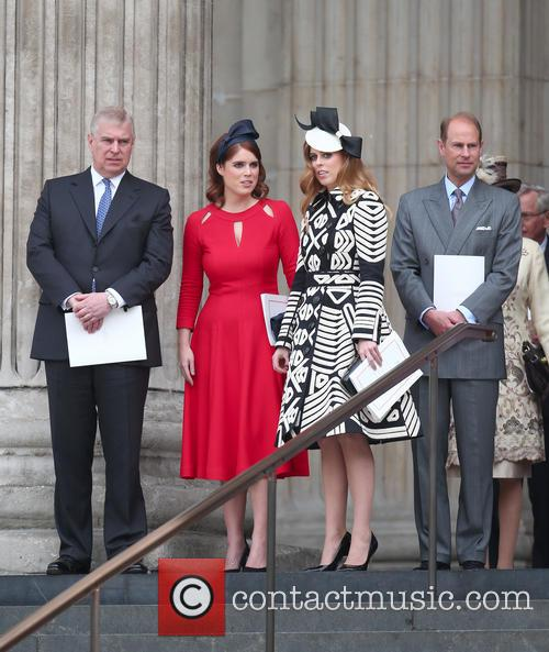 Princess Eugenie Of York, Prince Andrew, Duke Of York, Princess Beatrice Of York and Prince Edward 6