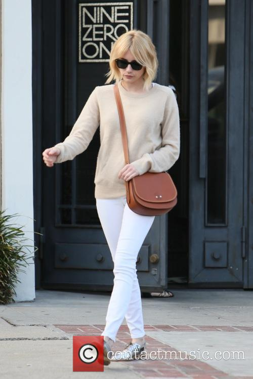 Emma Roberts seen leaving 901 Salon