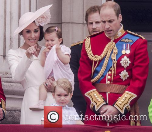 The Duchess Of Cambridge, Princess Charlotte, Prince George and Duke Of Edinburgh 7