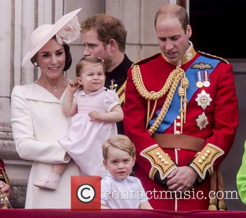 The Duchess Of Cambridge, Princess Charlotte, Prince George and Duke Of Edinburgh 8