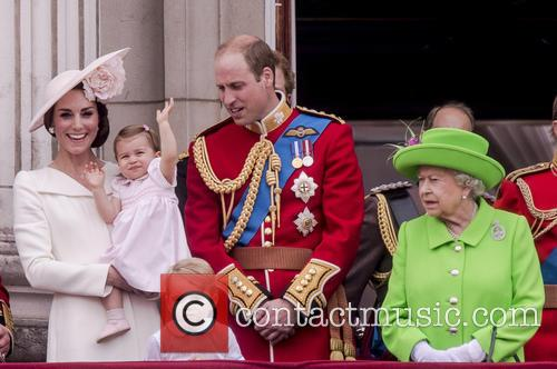 Quenthe Duchess Of Cambridge, Princess Charlotte, Prince George, Duke Of Edinburgh and Queen Elizabeth Ii 2