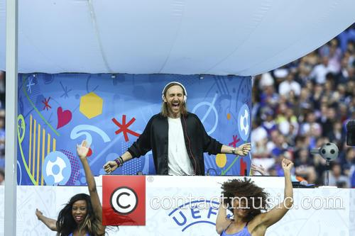 David Guetta and Zara Larsson perform at UEFA...