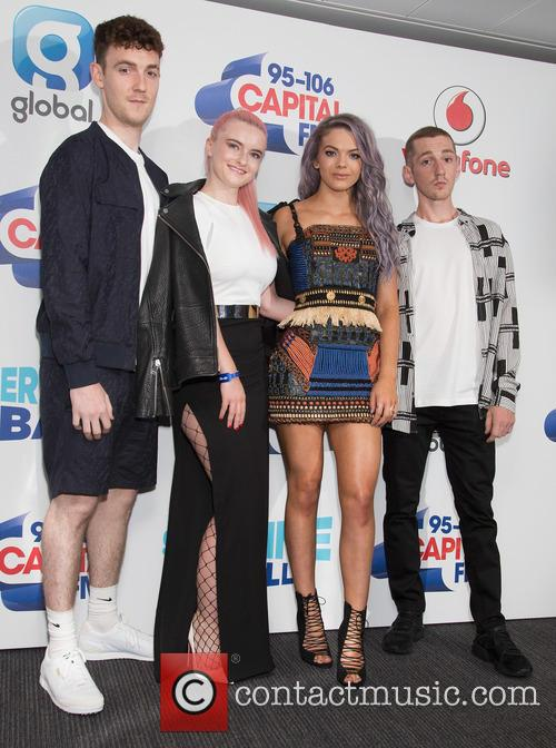 Grace Chatto, Louisa Johnson, Clean Bandit, Neil Amin-smith, Jack Patterson and Luke Patterson 3