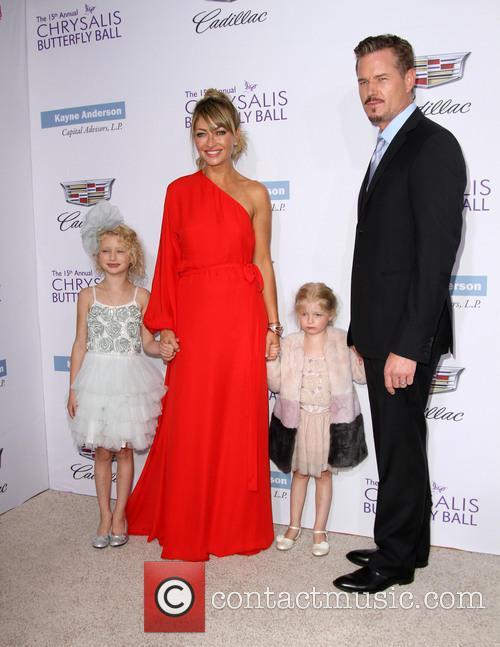 Rebecca Gayheart, Eric Dane, Daughters Billie Beatrice Dane and Georgia Dane 5