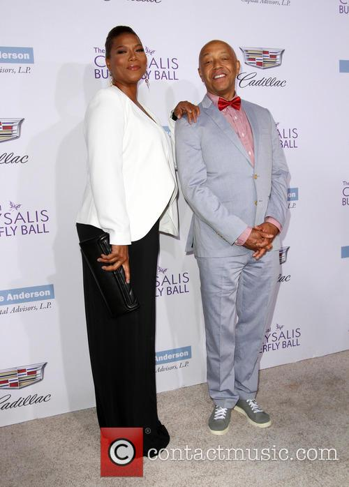 Queen Latifah and Russell Simmons
