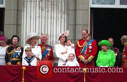 Princess Anne, Camilla, Duchess Of Cornwall, Prince Charles, Catherine, Duchess Of Cambridge, Kate Middleton, Catherine Middleton, Princess Charlotte, Prince George, Prince William, Queen Elizabeth Ii and Prince Phillip 3