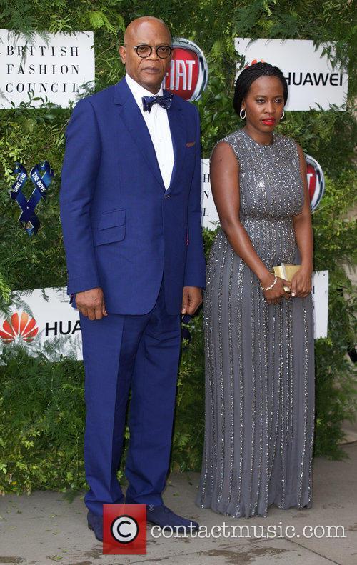 Samuel L. Jackson and Sofia Davis 1