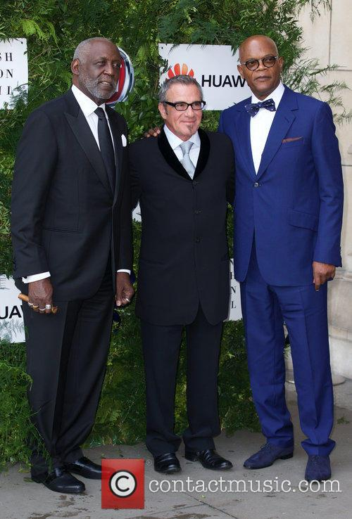 Richard Roundtree, Tico Torres and Samuel L. Jackson