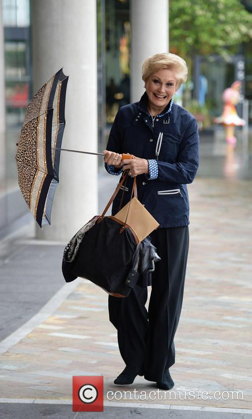 Angela Rippon arriving at the BBC studios