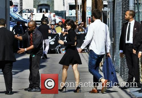 Constance Zimmer in Hollywood for Jimmy  Kimmel...