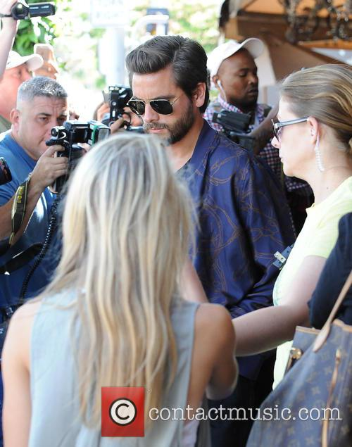 Khloe Kardashian and Scott Disick out in Los...