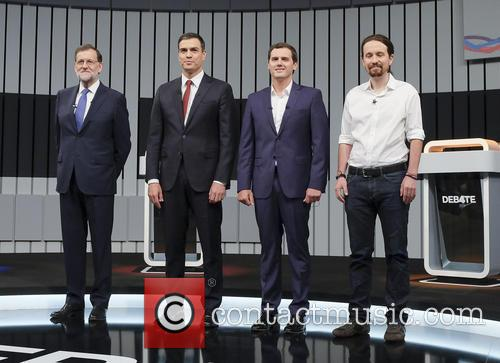 Mariano Rajoy, Pablo Iglesias, Pedro Sanchez and Albert Rivera 2