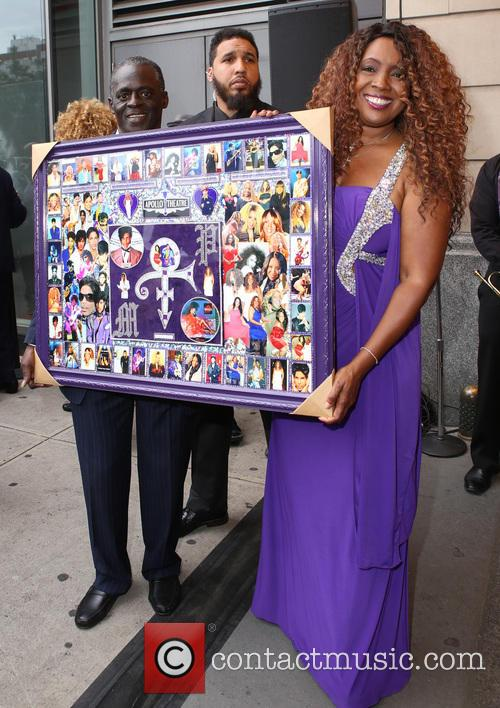 Prince is honored into the Apollo Theater's Walk...