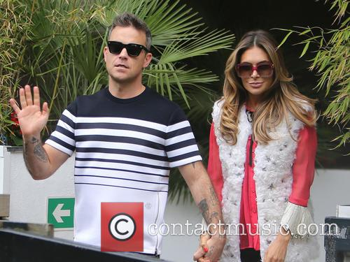 Robbie Williams and Ayda Field 2