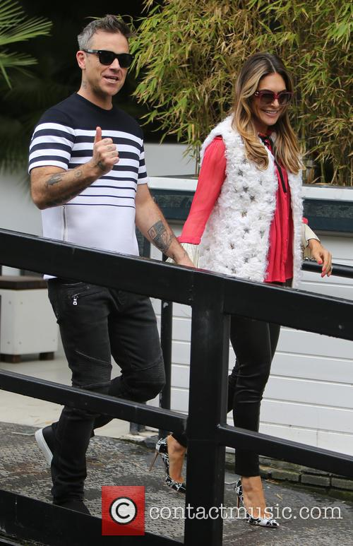 Robbie Williams and Ayda Field 6