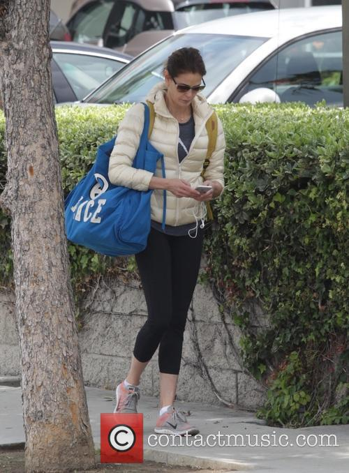 Teri Hatcher leaving the gym in Studio City