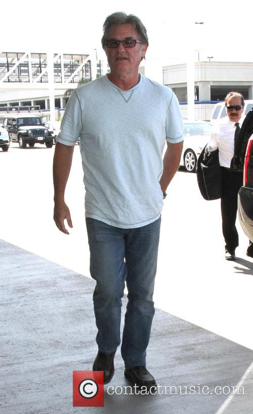 Kurt Russell arrives at Los Angeles International (LAX)...