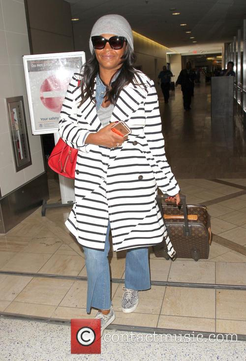 Nia Long arrives at Los Angeles International (LAX)...